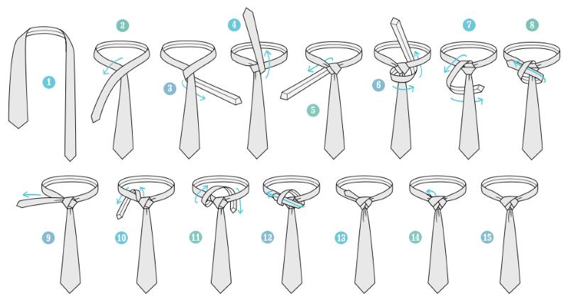 Как завязать галстук, или покупка галстука