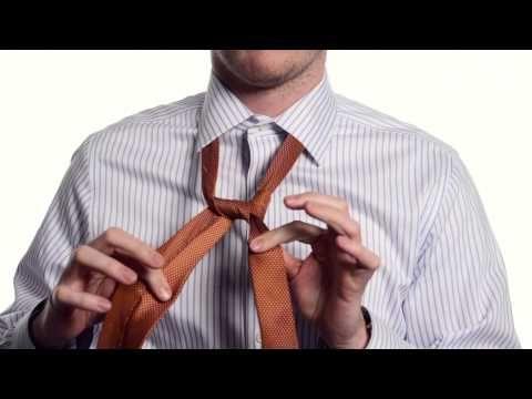 узел элдридж,завязать галстук,способ завязывания галстука,как завязать галстук