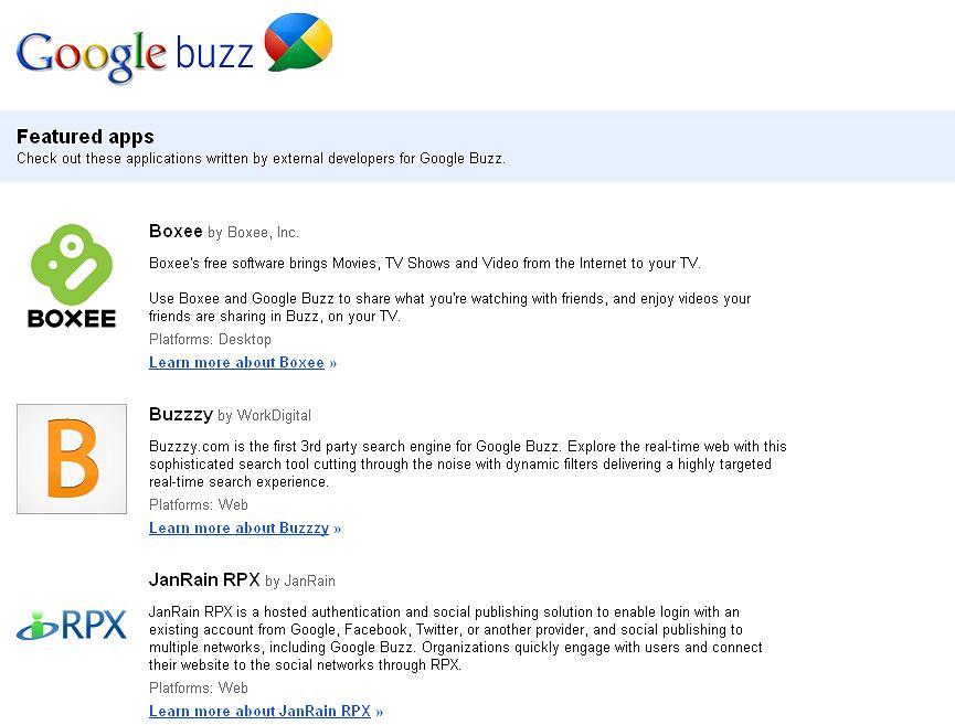 Z7910163ihpierwsze Aplikacje Dla Google Buzz