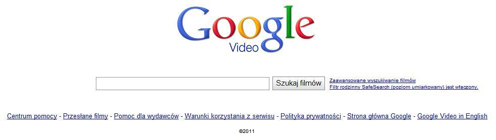 Z9450400ihstrona Glowna Wyszukiwarki Google Video
