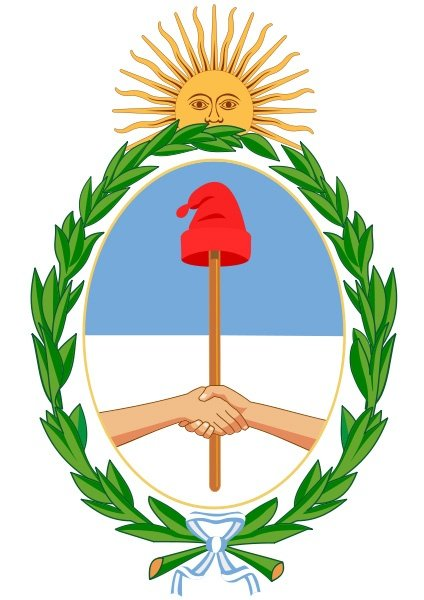 6 8 Argentina Coat Of Arms