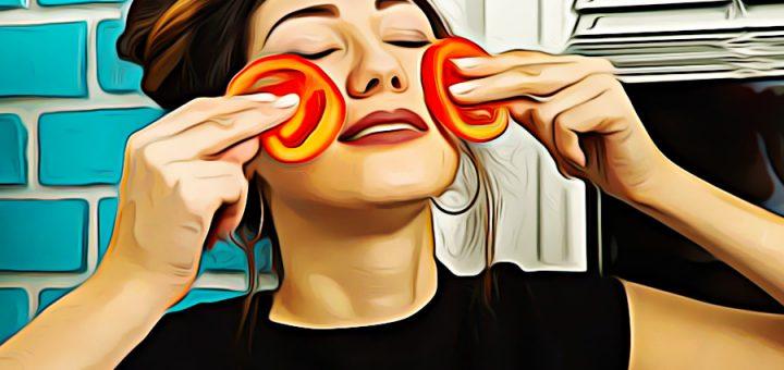 маска из помидор