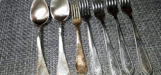 чистка столовых приборов