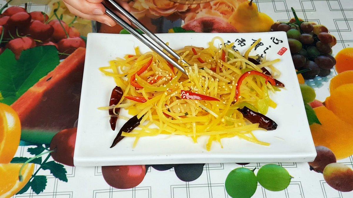 жареный картофель по китайски
