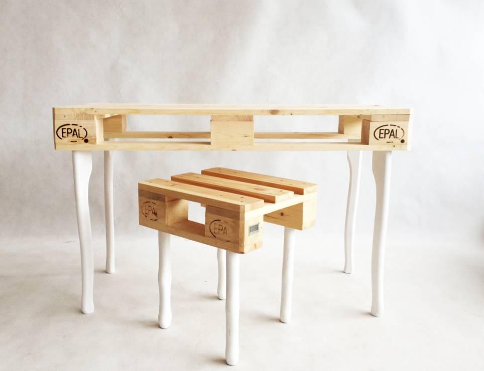 stol i stul iz palet